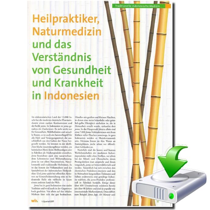 Heilpraktiker, Naturmedizin und das Verständnis von Gesundheit und Krankheit in Indonesien