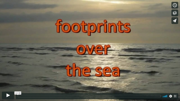 footprints over the sea